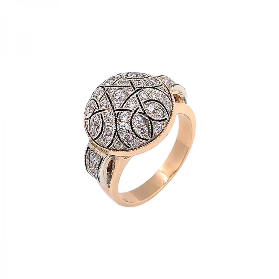 Кольцо с бриллиантами работы А. Помельникова-38