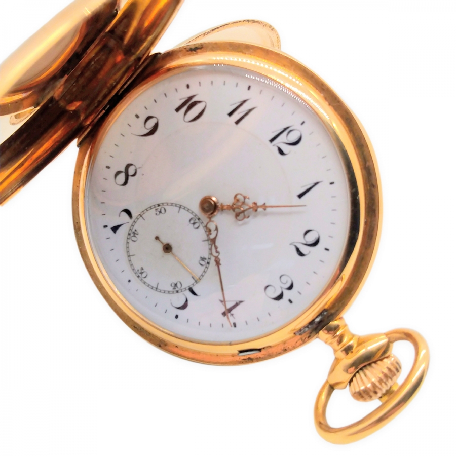 Золотые карманные часы-61
