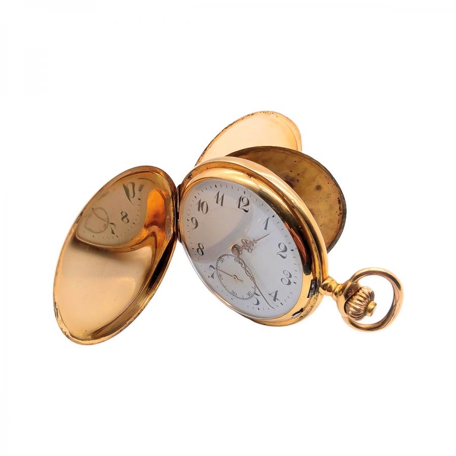 Золотые карманные часы-60