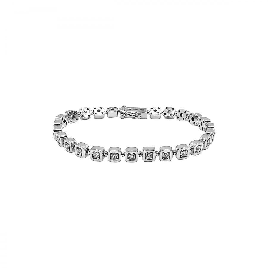 Золотой браслет с бриллиантами 2,1 ct ПРОДАНО-67