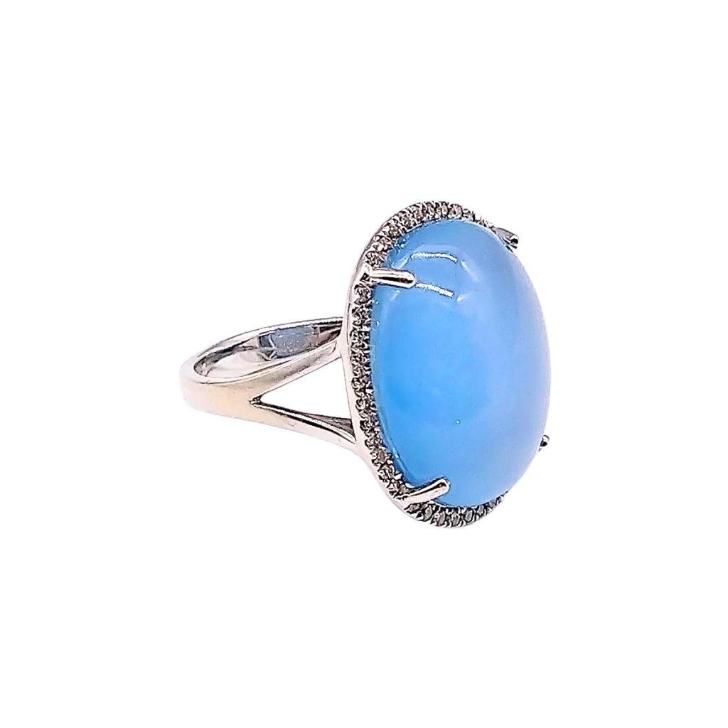 Золотое кольцо с сапфиром и бриллиантами-2