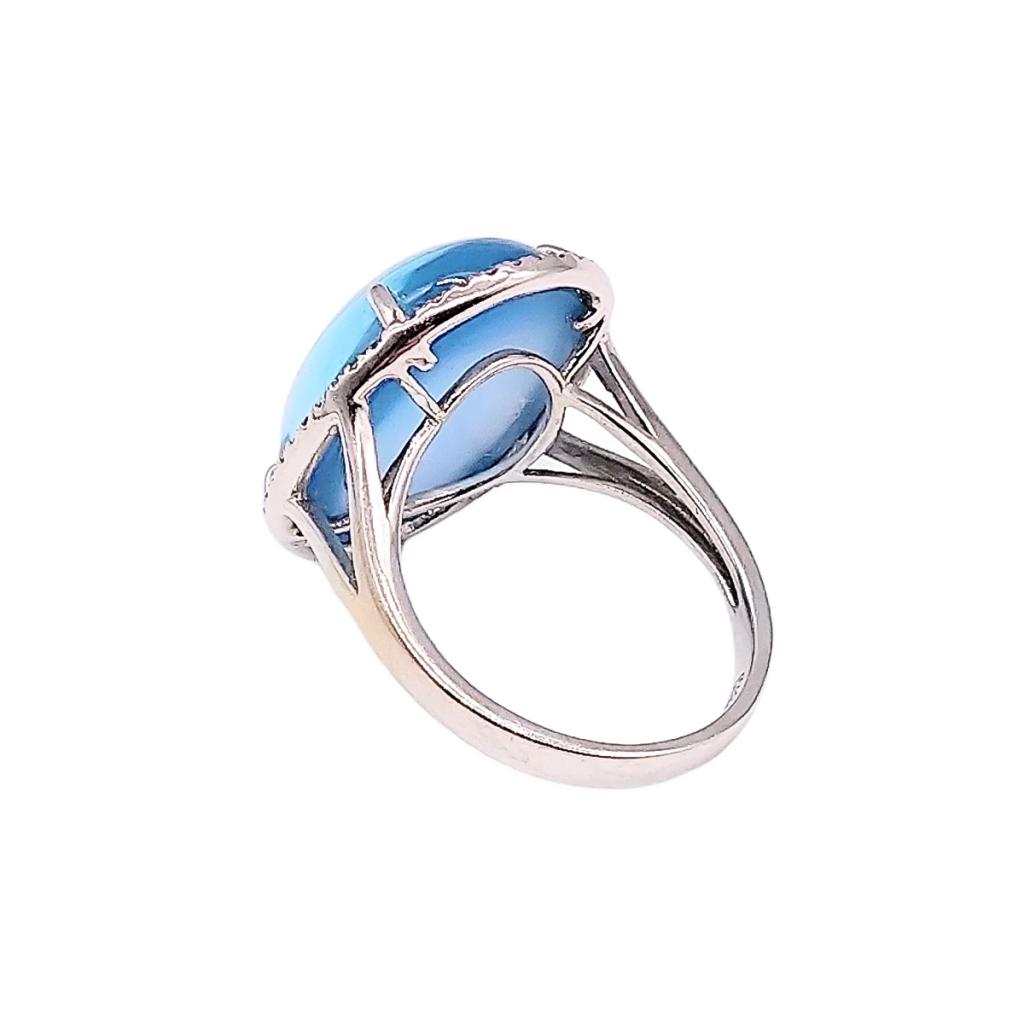 Золотое кольцо с сапфиром и бриллиантами-3