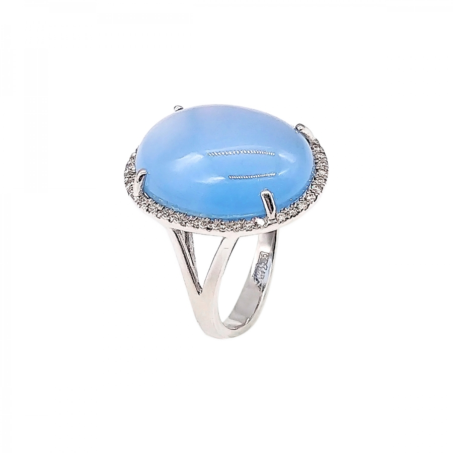 Золотое кольцо с сапфиром и бриллиантами-30