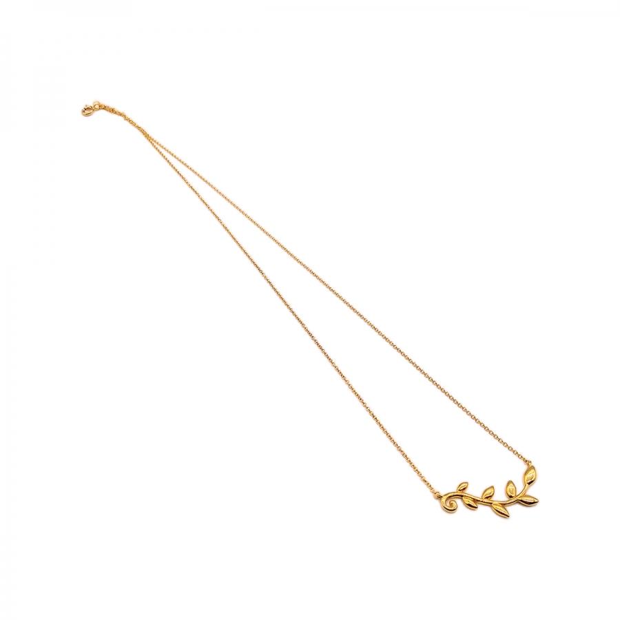 """Золотой подвес """"Tiffany & Co"""" Olive Leaf-44"""