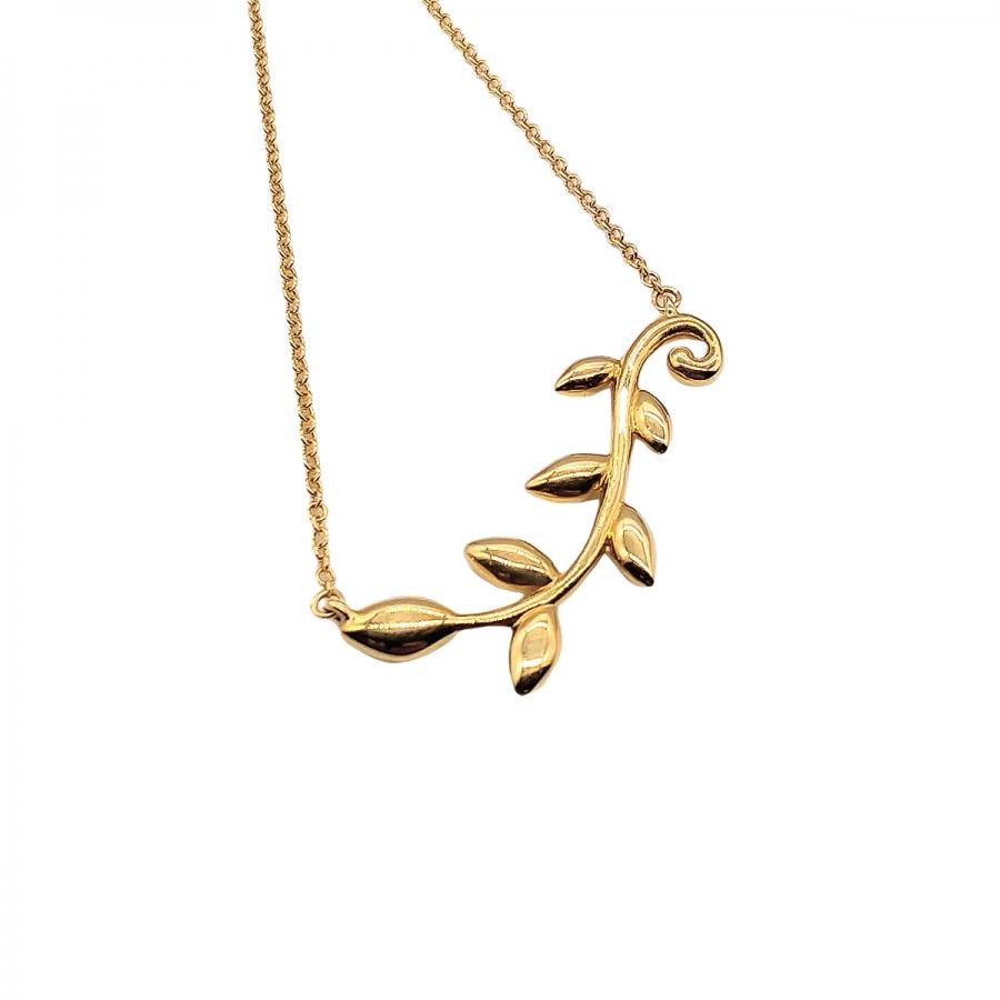 """Золотой подвес """"Tiffany & Co"""" Olive Leaf-37"""