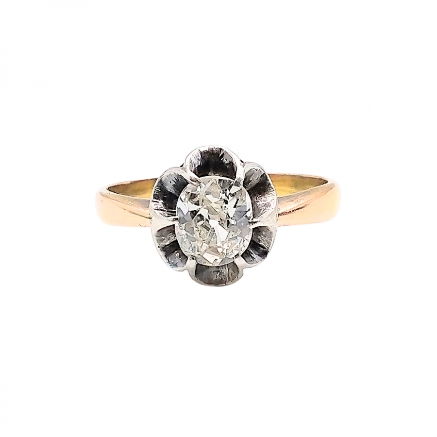 Золотое кольцо с Бриллиантом 0,75 ct-35