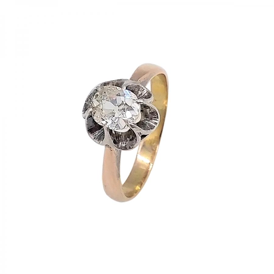 Золотое кольцо с Бриллиантом 0,75 ct-55