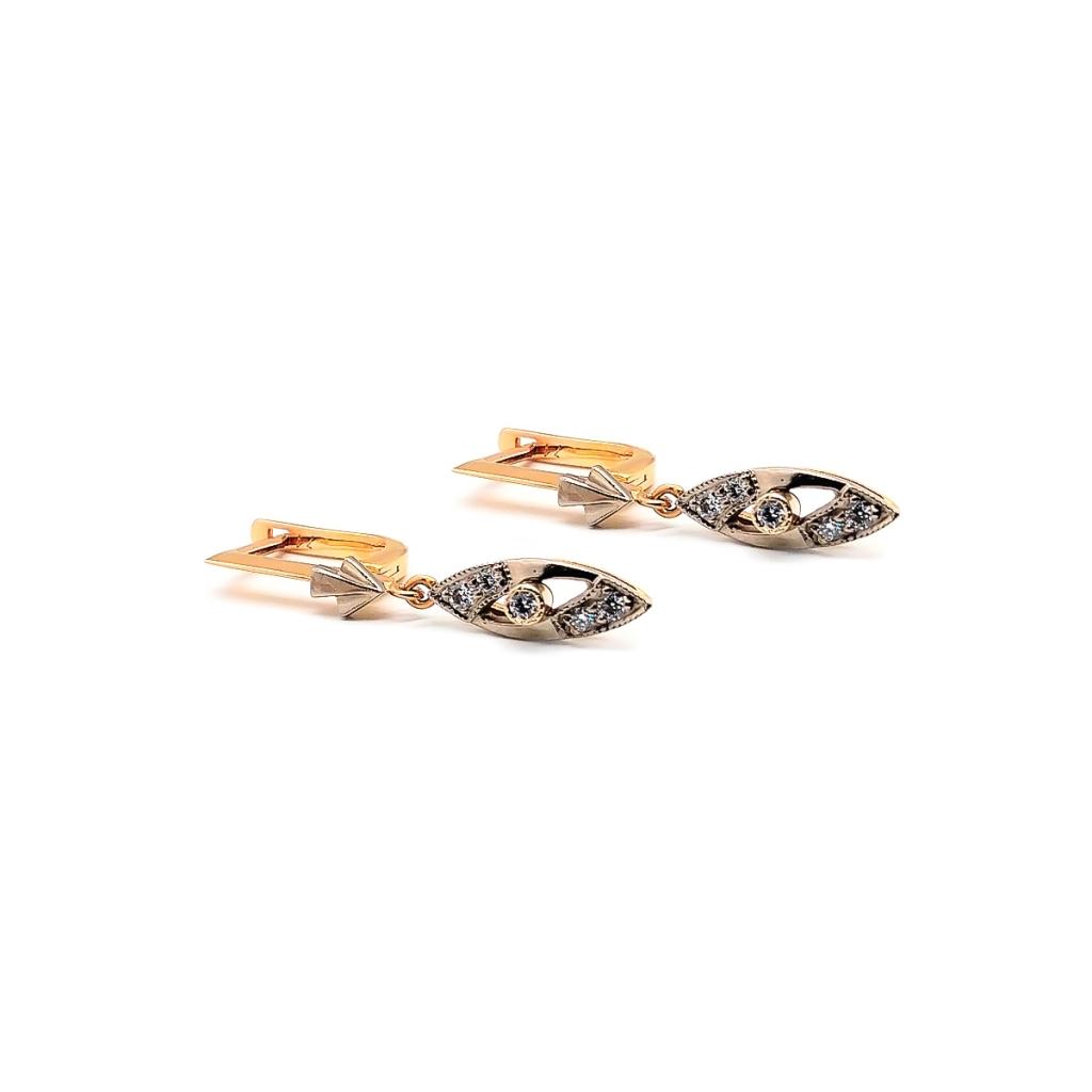 Золотые серьги 585 пробы с бриллиантами-2
