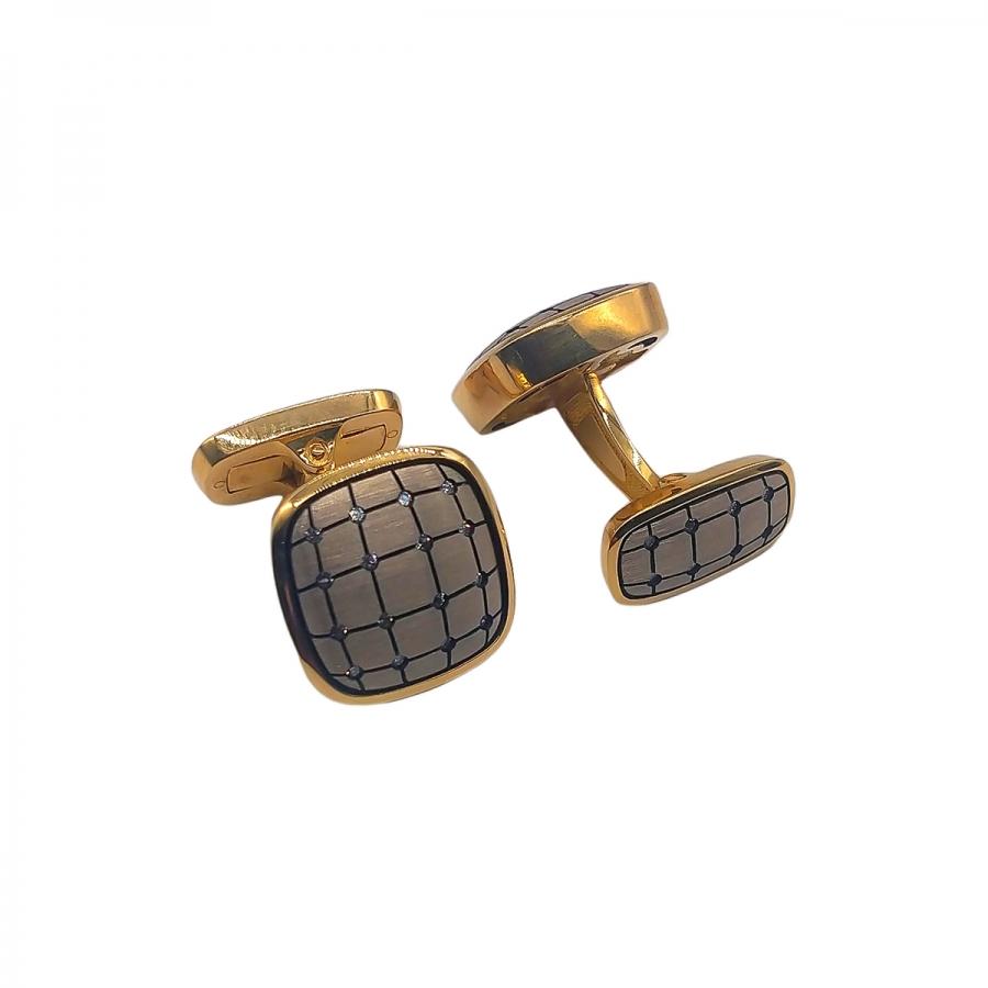 Золотые запонки от А. Помельникова-50