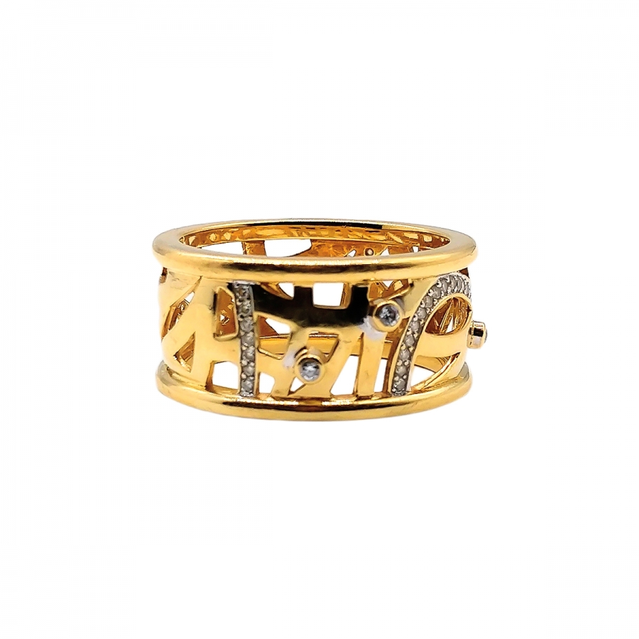 Золотое кольцо 750 пробы с бриллиантами-43