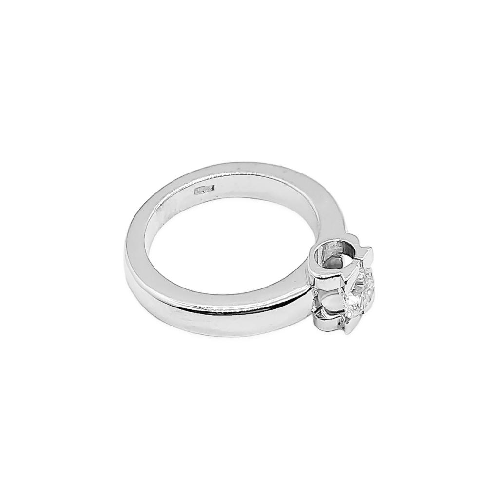 Золотое кольцо с бриллиантом 0,5 ct-3