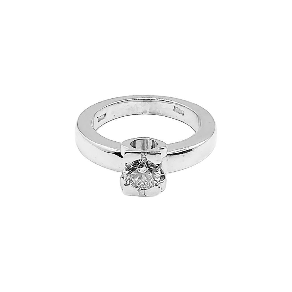 Золотое кольцо с бриллиантом 0,5 ct-4