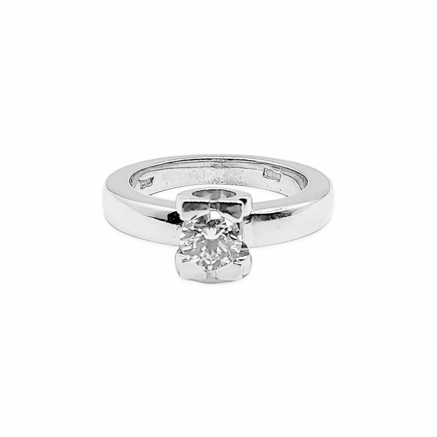 Золотое кольцо с бриллиантом 0,5 ct-37