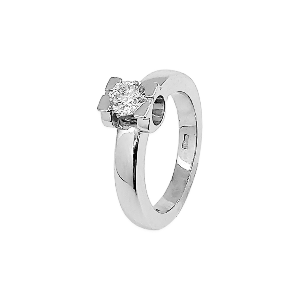 Золотое кольцо с бриллиантом 0,5 ct-1