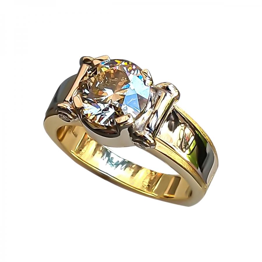 3,02 ct мужское золотое кольцо с бриллиантом-25