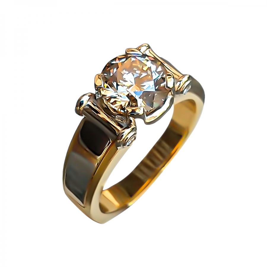 3,02 ct мужское золотое кольцо с бриллиантом-24