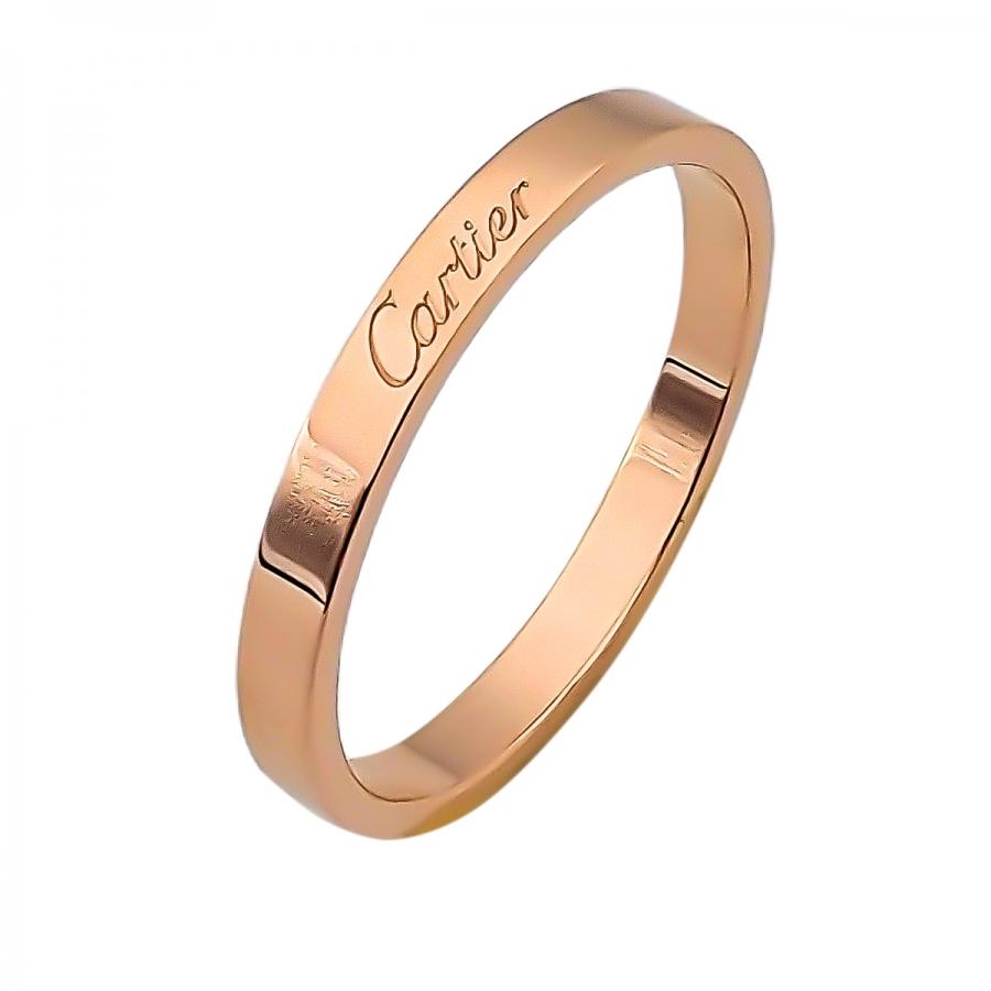Cartier золотое мужское кольцо De Cartier-26