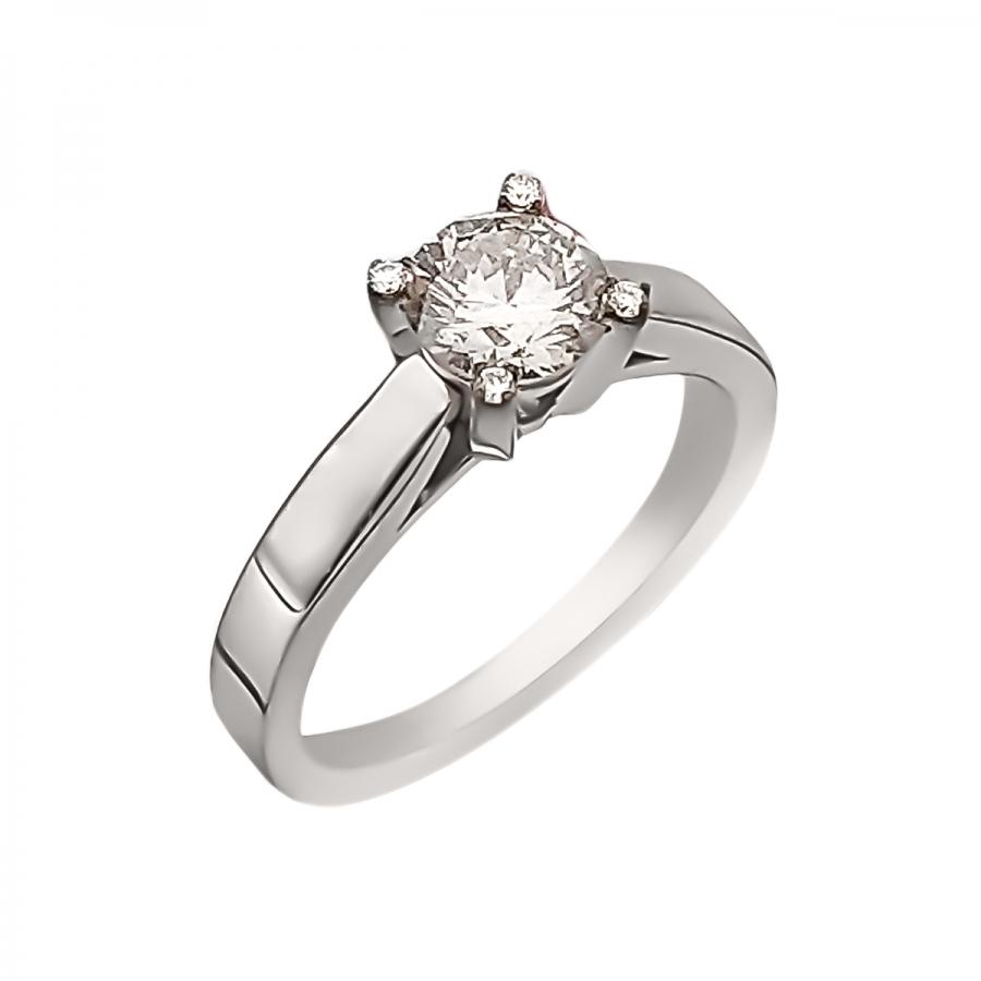 0,95ct золотое кольцо с бриллиантом-29