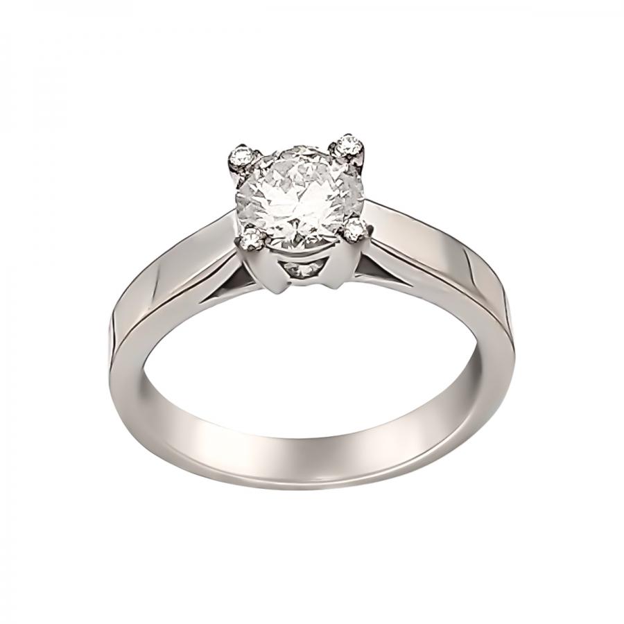 0,95ct золотое кольцо с бриллиантом-6
