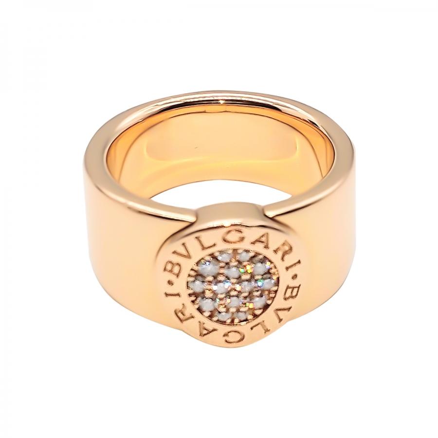 Bvlgari золотое кольцо с бриллиантами ПРОДАНО-3
