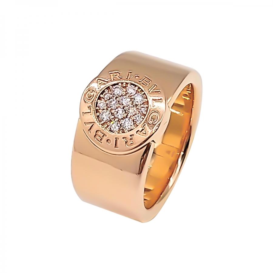 Bvlgari золотое кольцо с бриллиантами ПРОДАНО-10