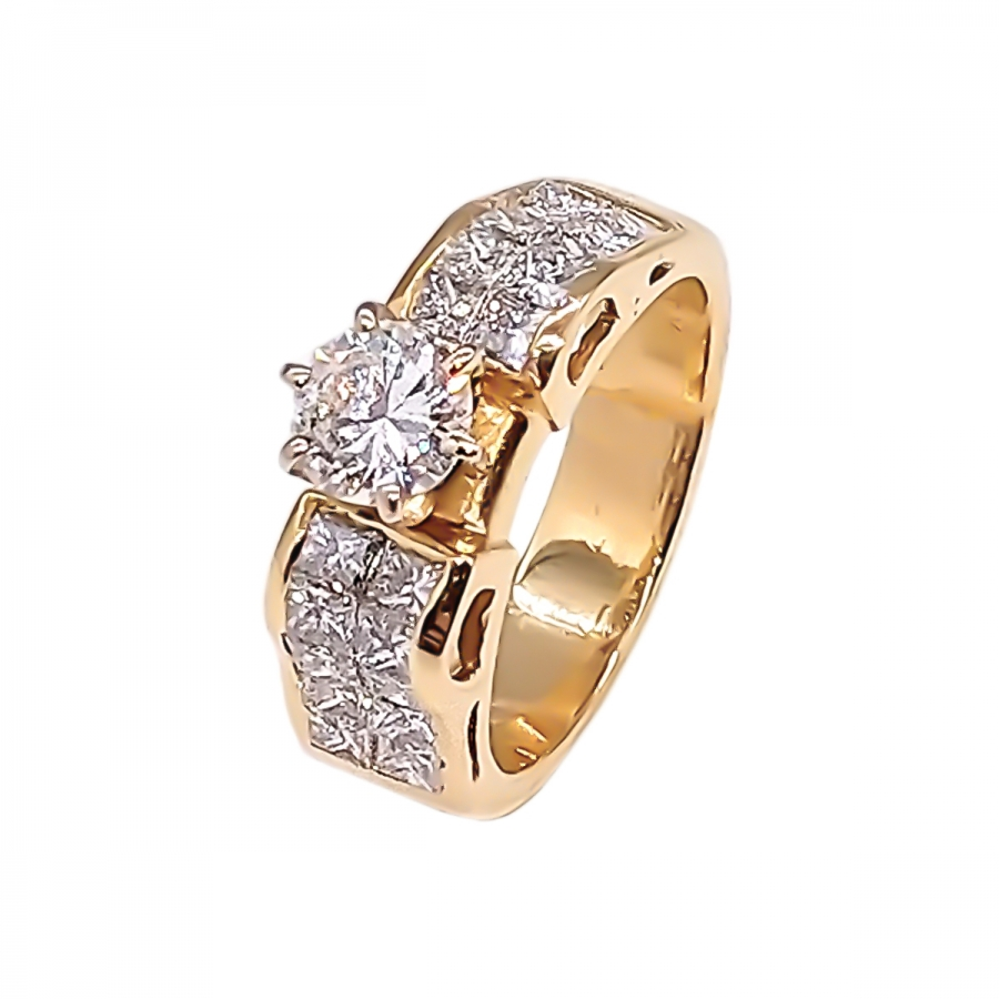 1,55 ct золотое кольцо с бриллиантами-2
