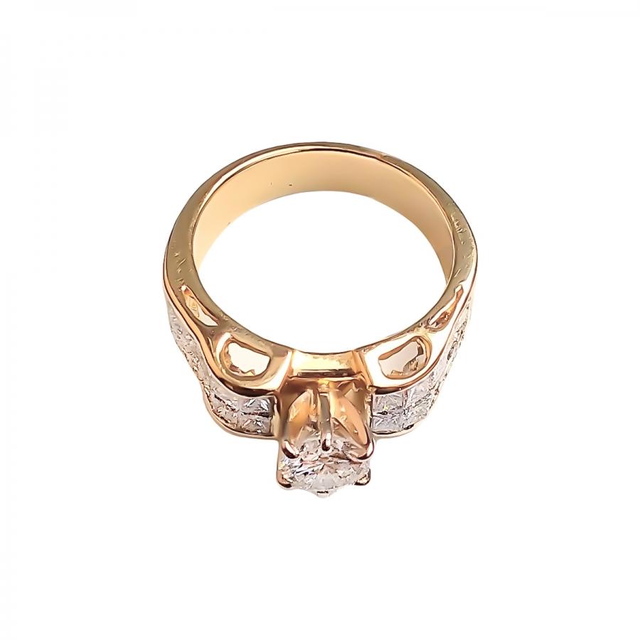1,55 ct золотое кольцо с бриллиантами-5