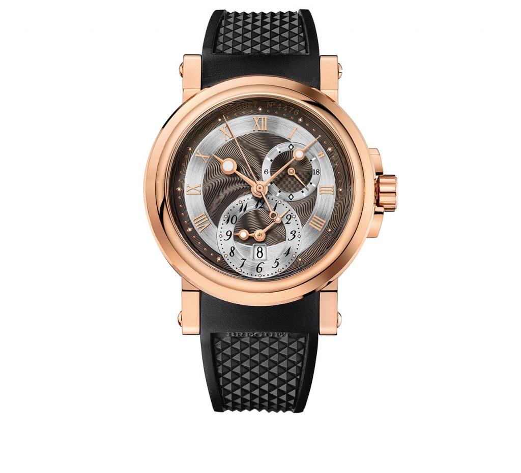 Breguet Marine GMT5857BR/Z2/5 золотые мужские часы ПРОДАНО-1