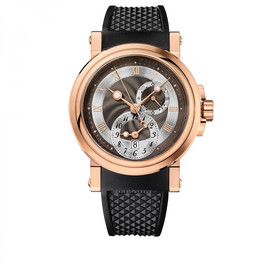 Breguet Marine GMT5857BR/Z2/5 золотые мужские часы ПРОДАНО-5