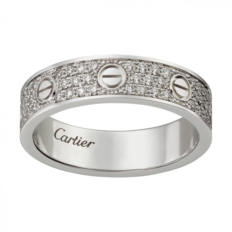 Cartier Love кольцо с бриллиантами-27