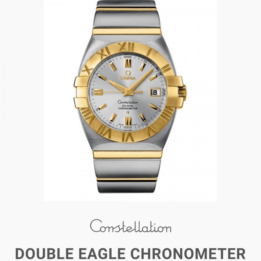 Omega Constellation Double Eagle Chronometer Steel/Gold механические часы-14