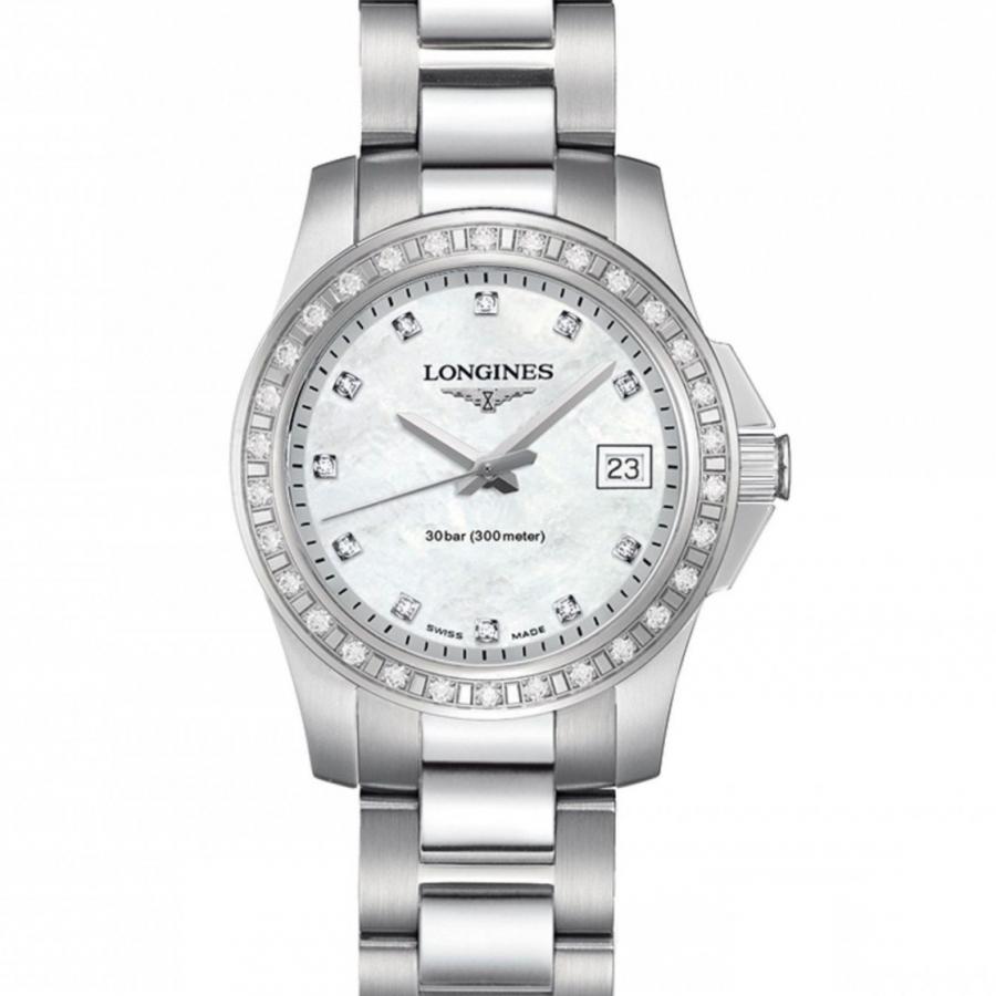 Новые Longines Conquest женские часы с бриллиантам-1