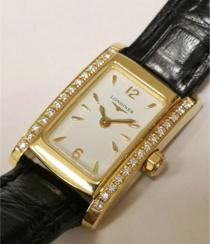 Longines Dolce Vita золотые часы с бриллиантами-3