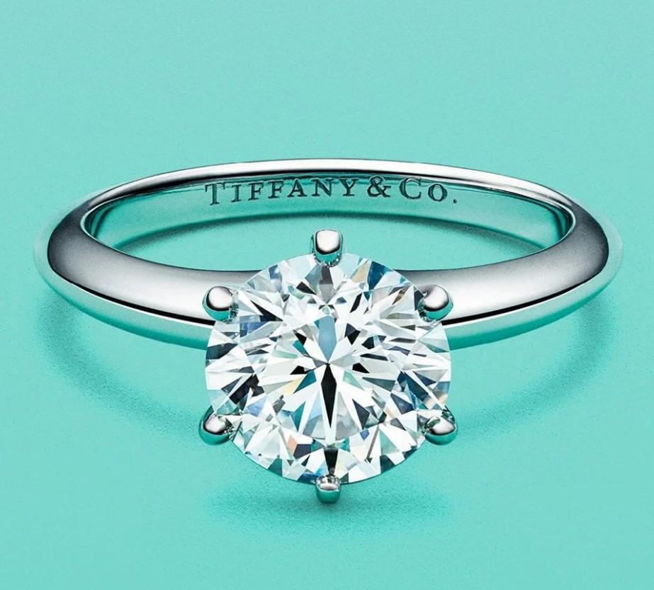 0.80 ct Tiffany Setting платиновое кольцо с бриллиантом-7