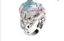 Dior Gourmande Ring золотое кольцо с аквамарином-25