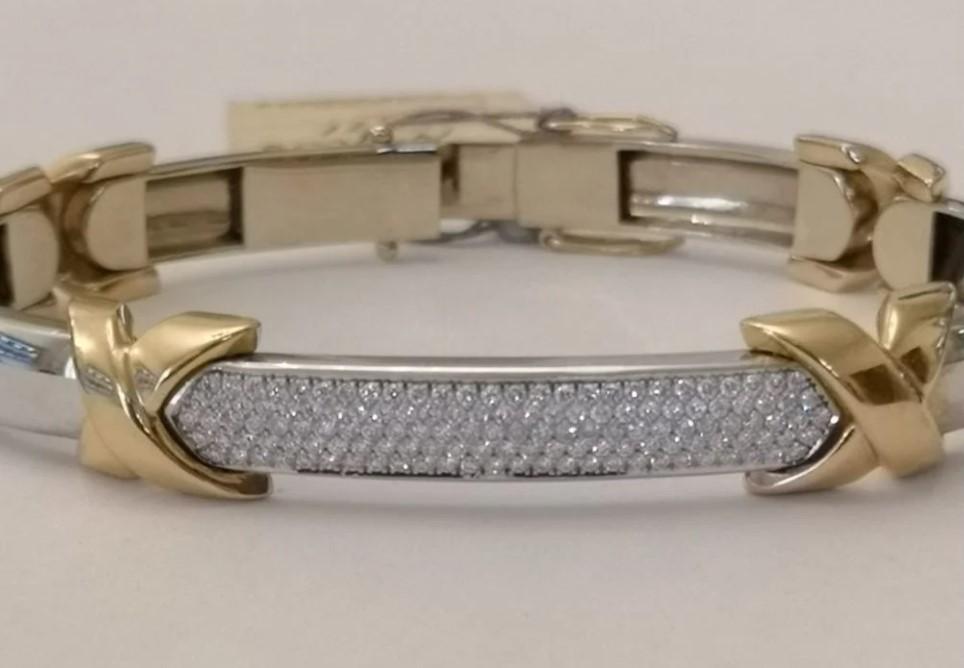 Золотой браслет с бриллиантами-41