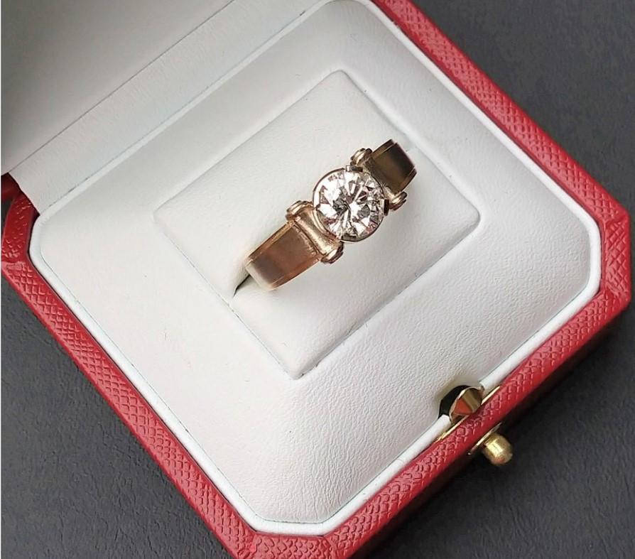 1,5 ct новое золотое кольцо с бриллиантами-2