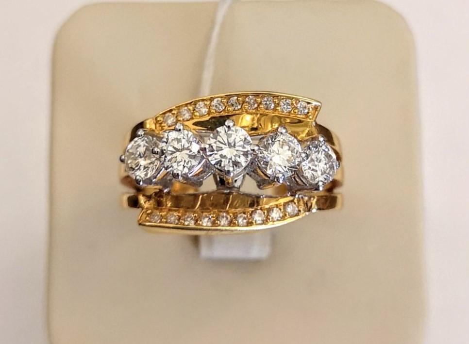 Новое золотое кольцо 750 пр. с бриллиантами 1,36ct-21