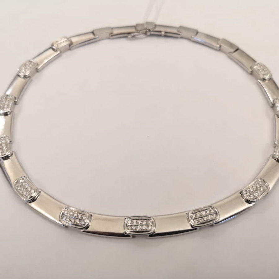 Золотое колье с бриллиантами 2,52 ct-26