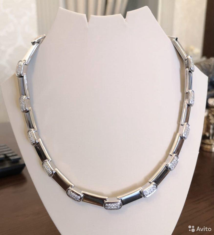 Золотое колье с бриллиантами 2,52 ct-25