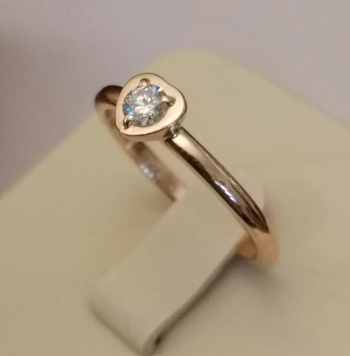 Cartier Diamond Leger de Cartier золотое кольцо-10