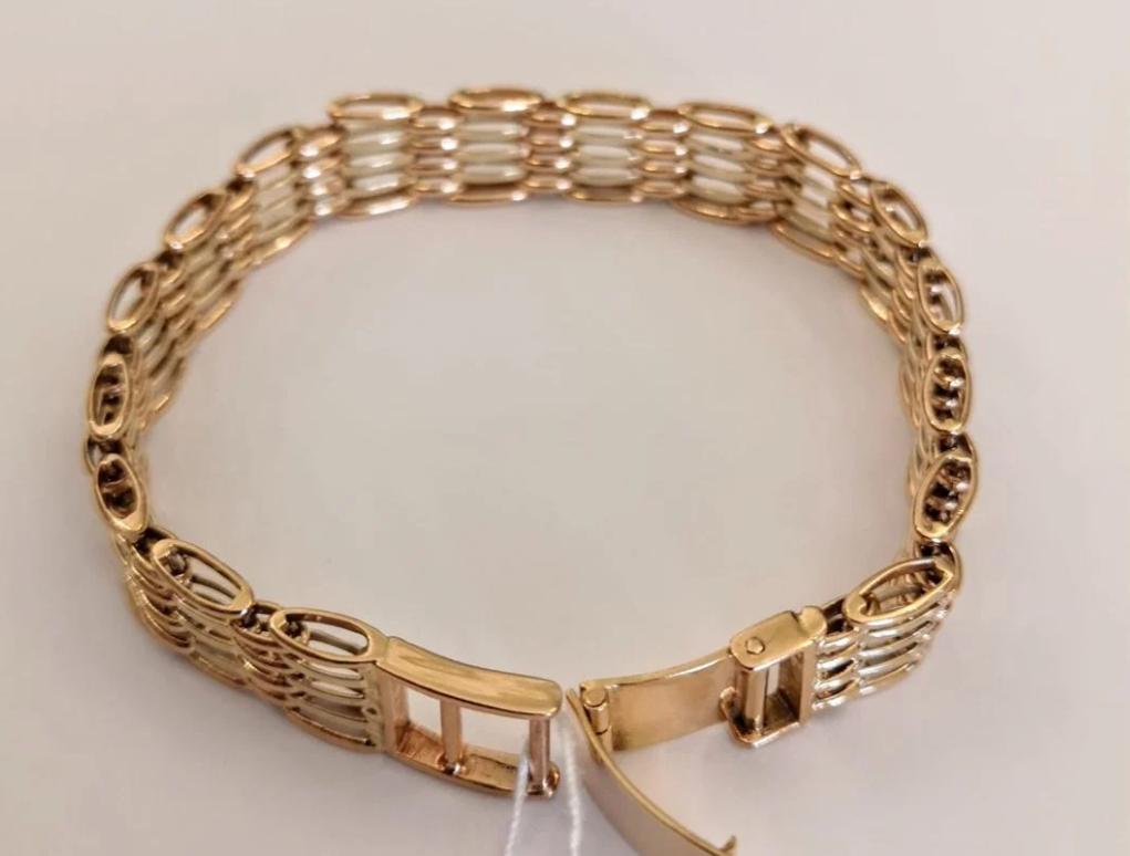 Золотой мужской браслет 585 пр-4
