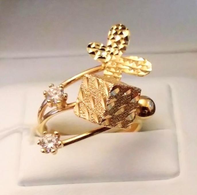 Золотое кольцо бабочка-1
