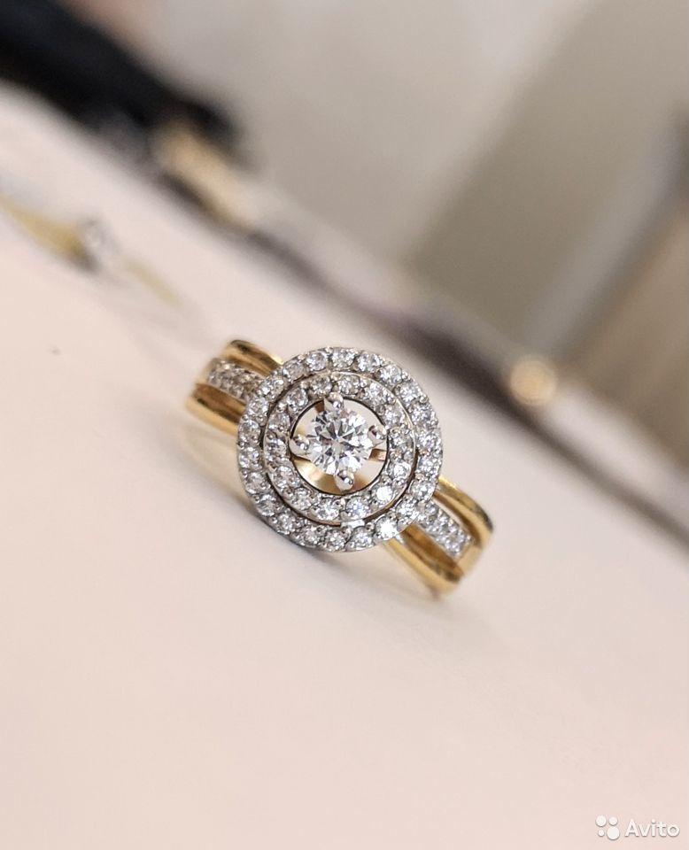 Новое золотое кольцо с бриллиантами-11