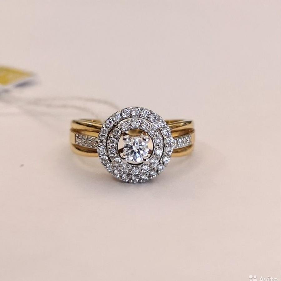 Новое золотое кольцо с бриллиантами-12